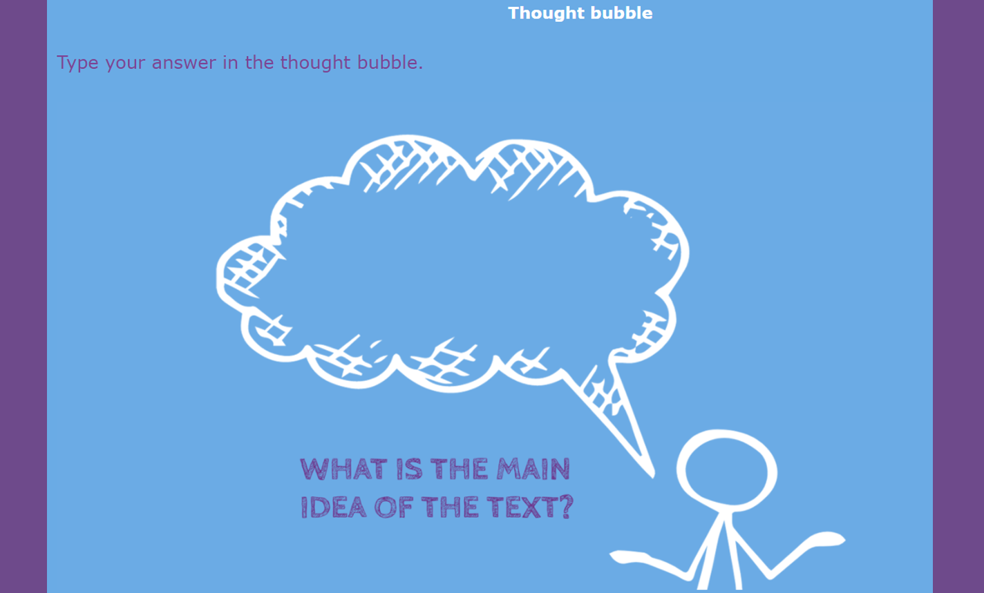 digital exit ticket - Thought Bubble
