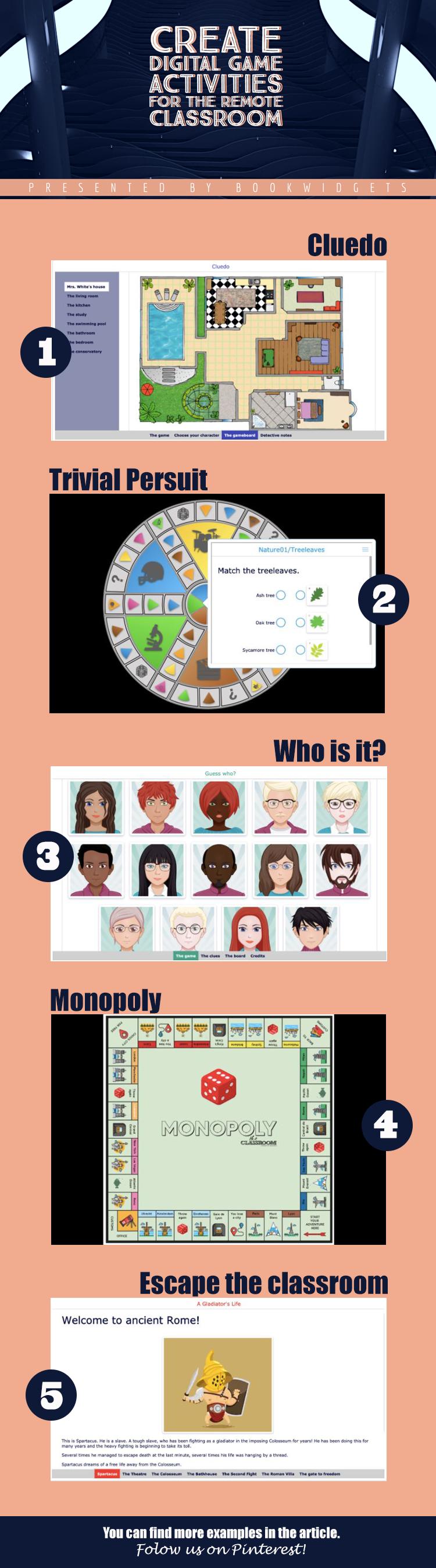 Create digital game activities