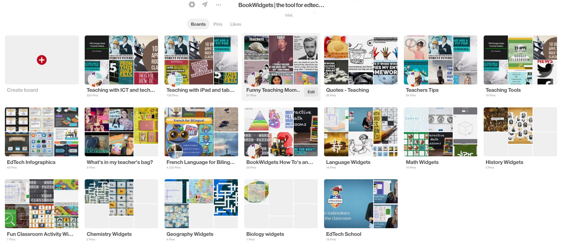 BookWidgets Pinterest
