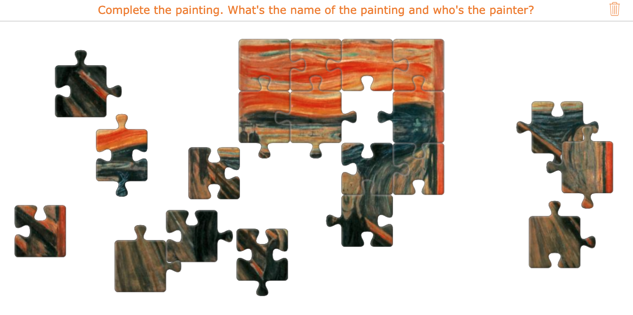 Jigsaw puzzles in art lessons
