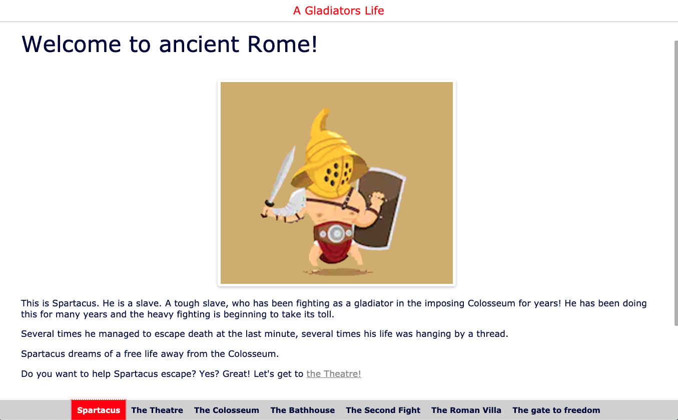 About gladiators - WebQuest for primary school