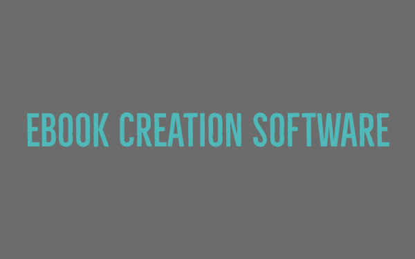 Ebook creation software
