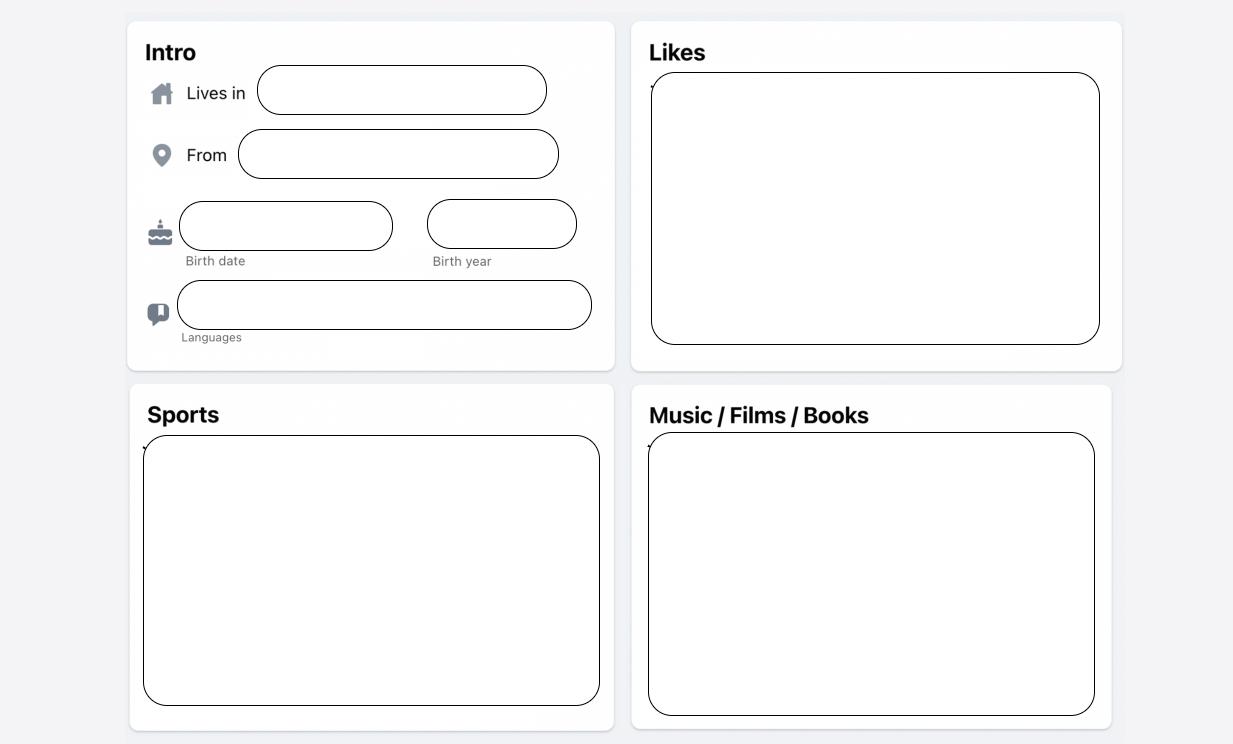 Creative book report - Facebook profile