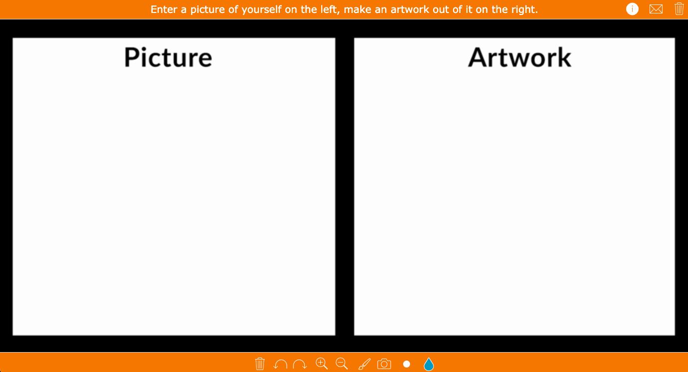 Black Canvas - digital whiteboard art assignment