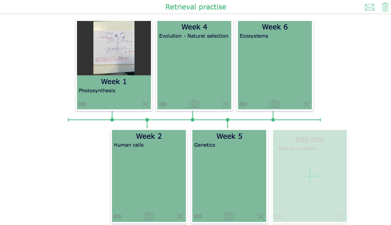 Retrieval practice with BookWidgets - The timeline widget