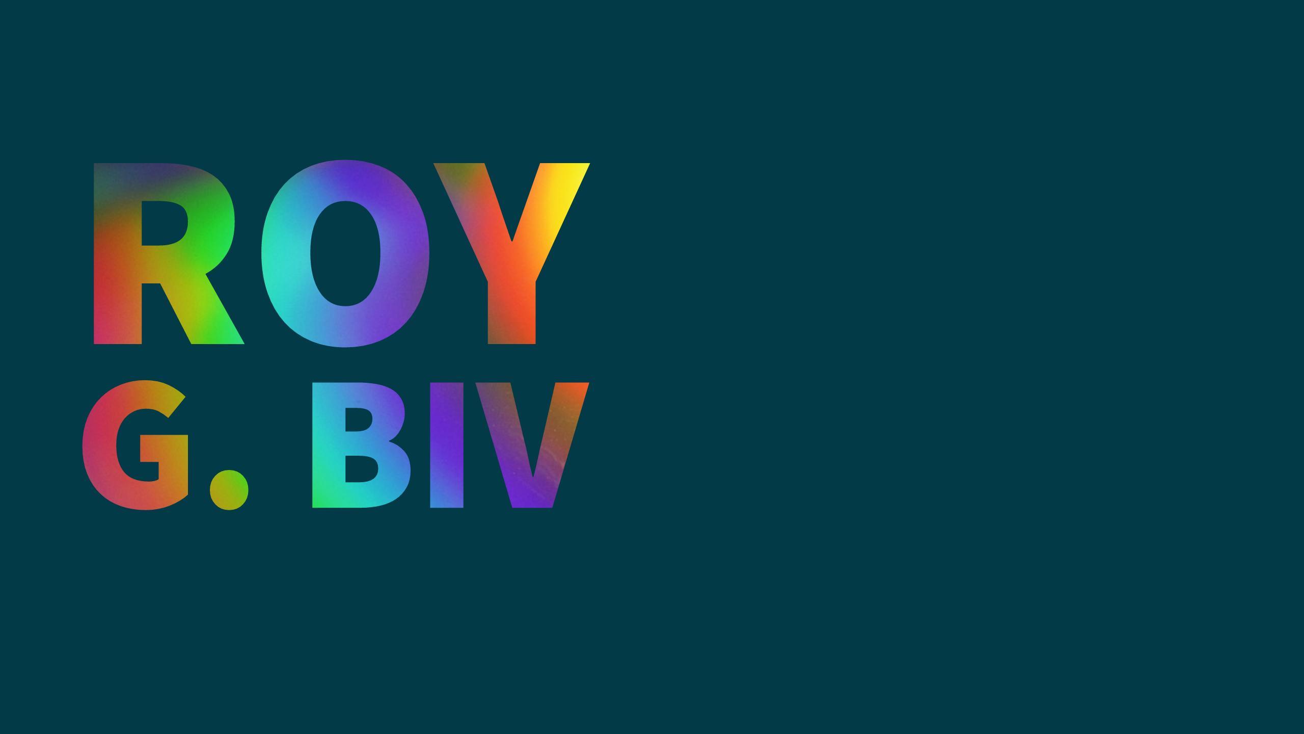 Rainbow colors acronym