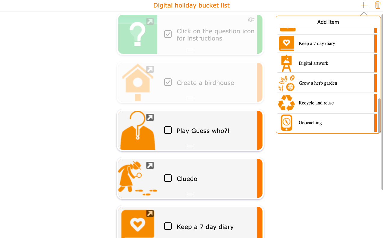 digital holiday activities for students
