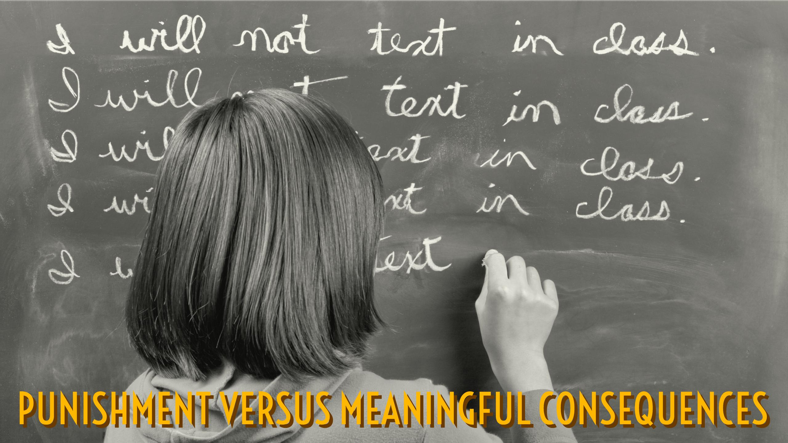 Meaningful consequences