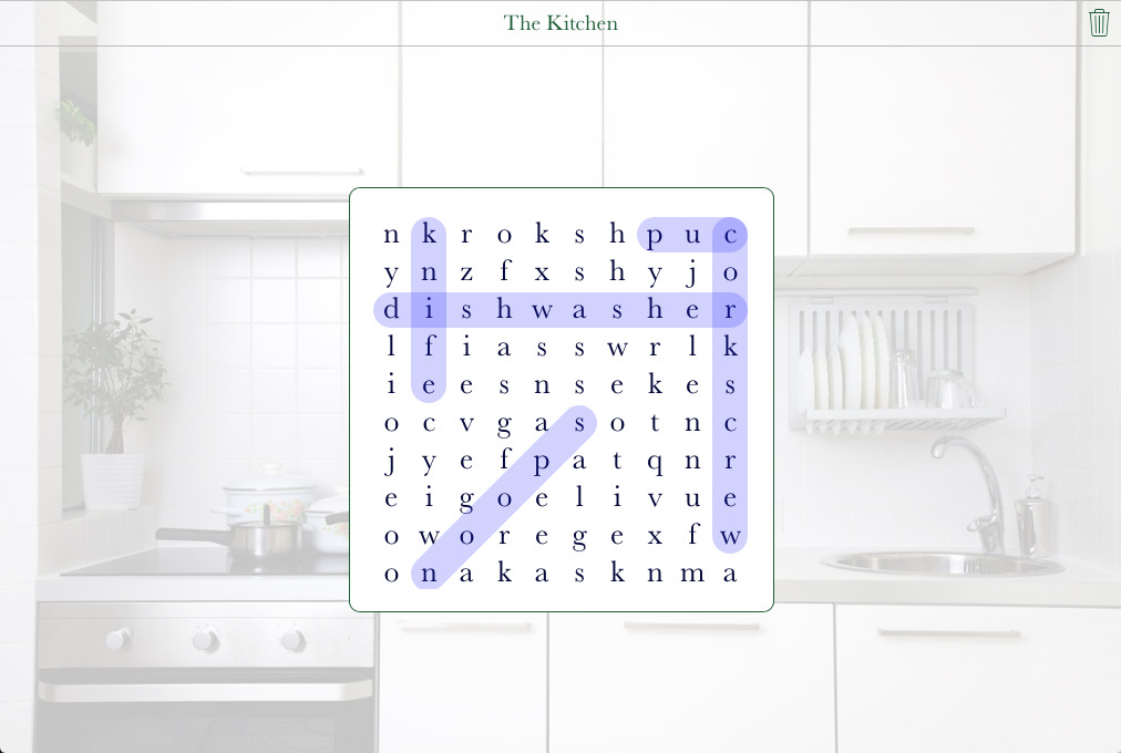 The Kitchen Word Search