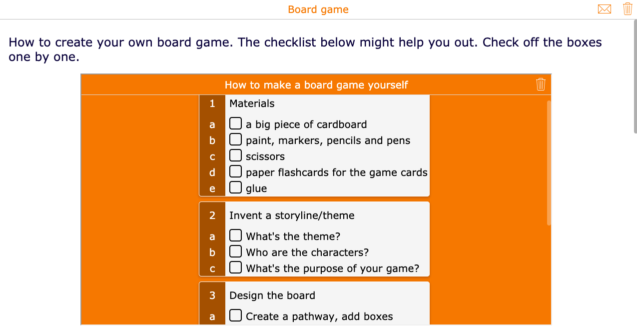 How to create a self-made board game