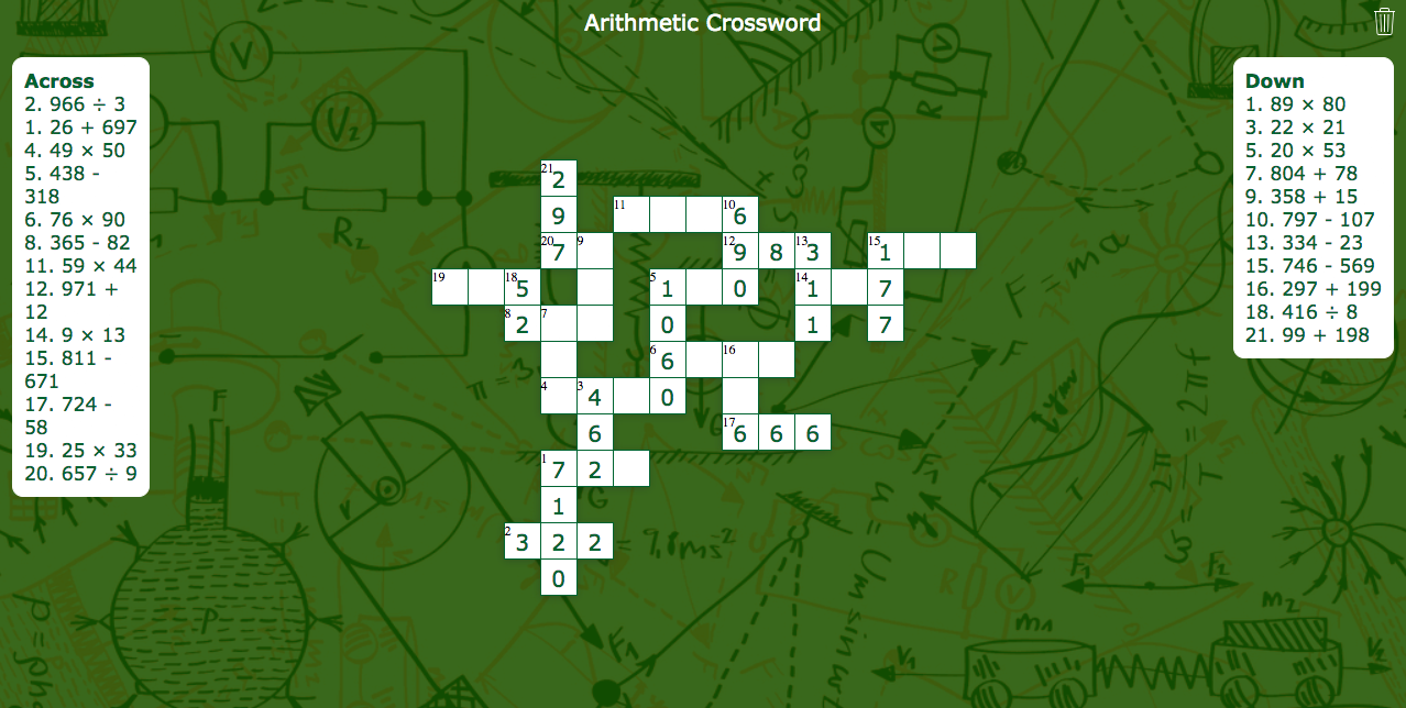 crossword widget