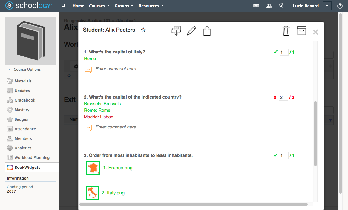 BookWidgets and schoology