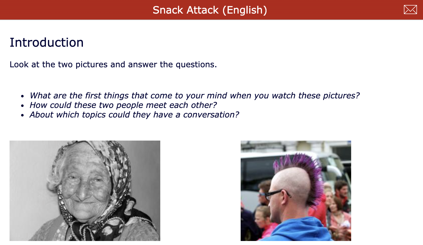 Short films - Snack attack - English lesson about stereotypes