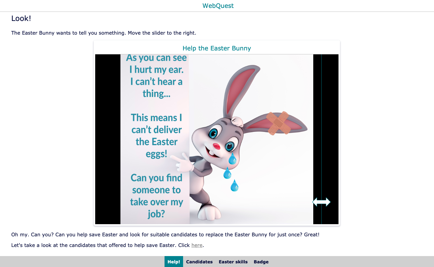 Escape the classroom lesson plan - Easter