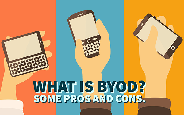 byod pros and cons Byod: the pros and cons of bring your own device byod (bring your own device) is a concept which has been around for several years now nevertheless, we feel that it is a topic worth revisiting as the consumer-led it revolution shows no sign of abating.