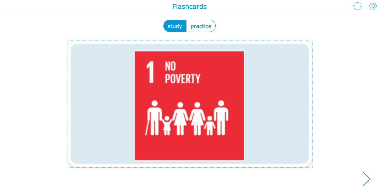 Flashcards on SDG's