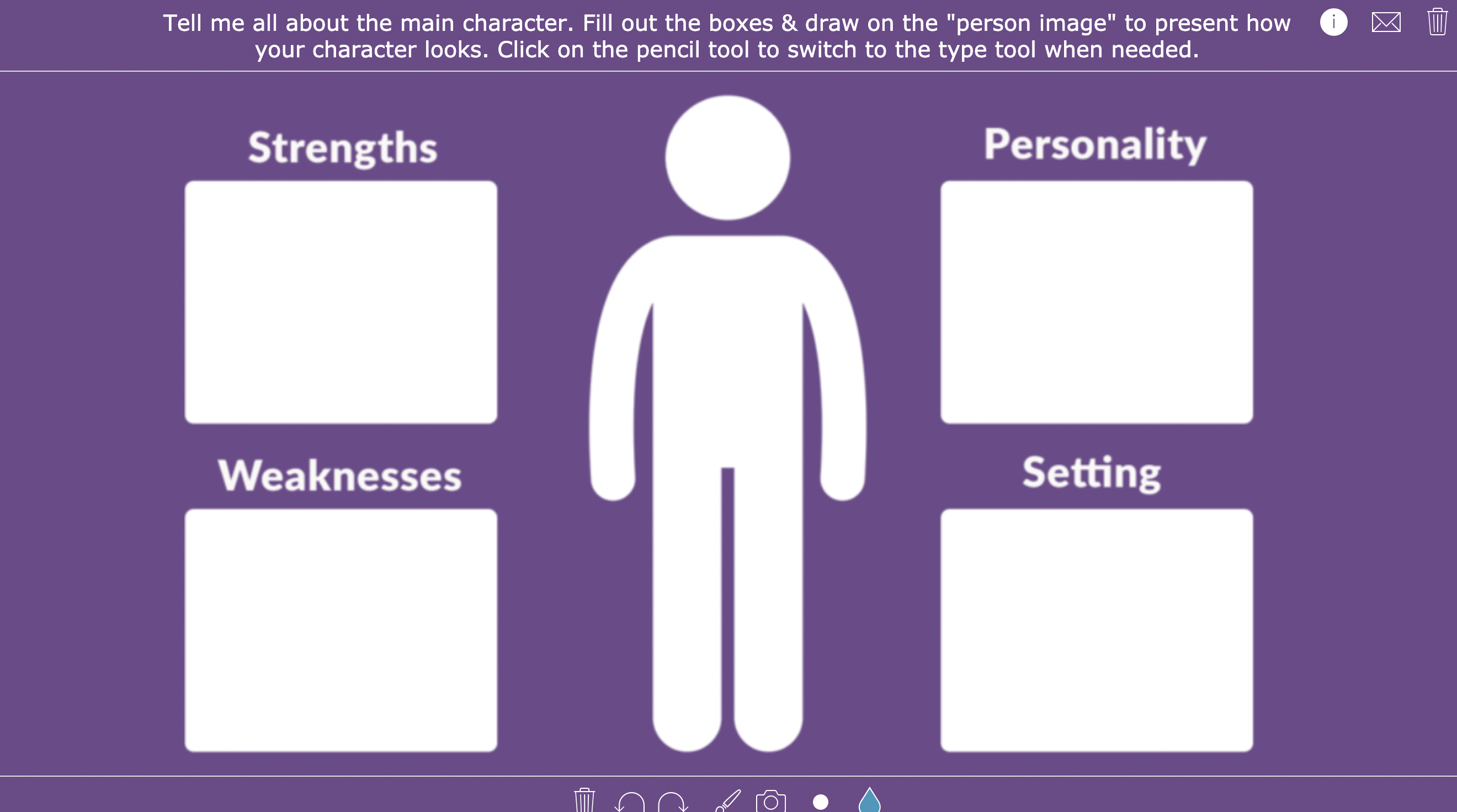 Creative book report - Character portrait