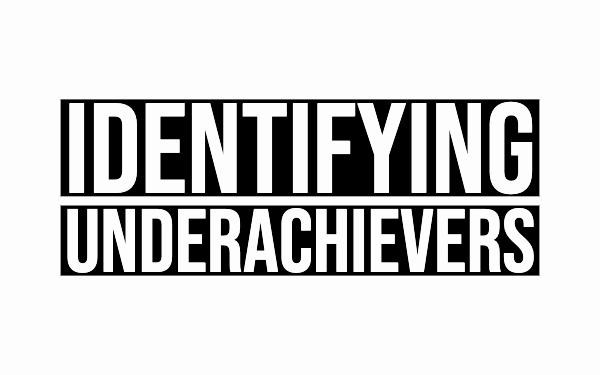 identifying underachievers