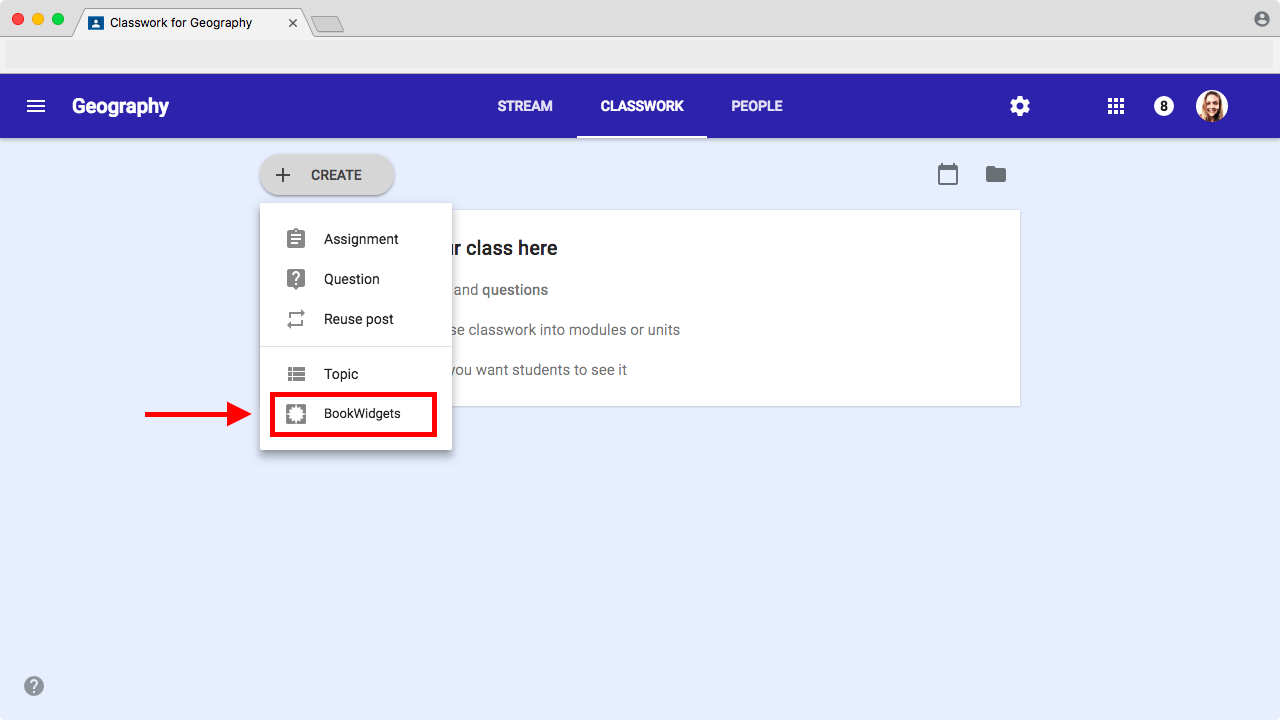 Using BookWidgets in the updated Google Classroom - BookWidgets