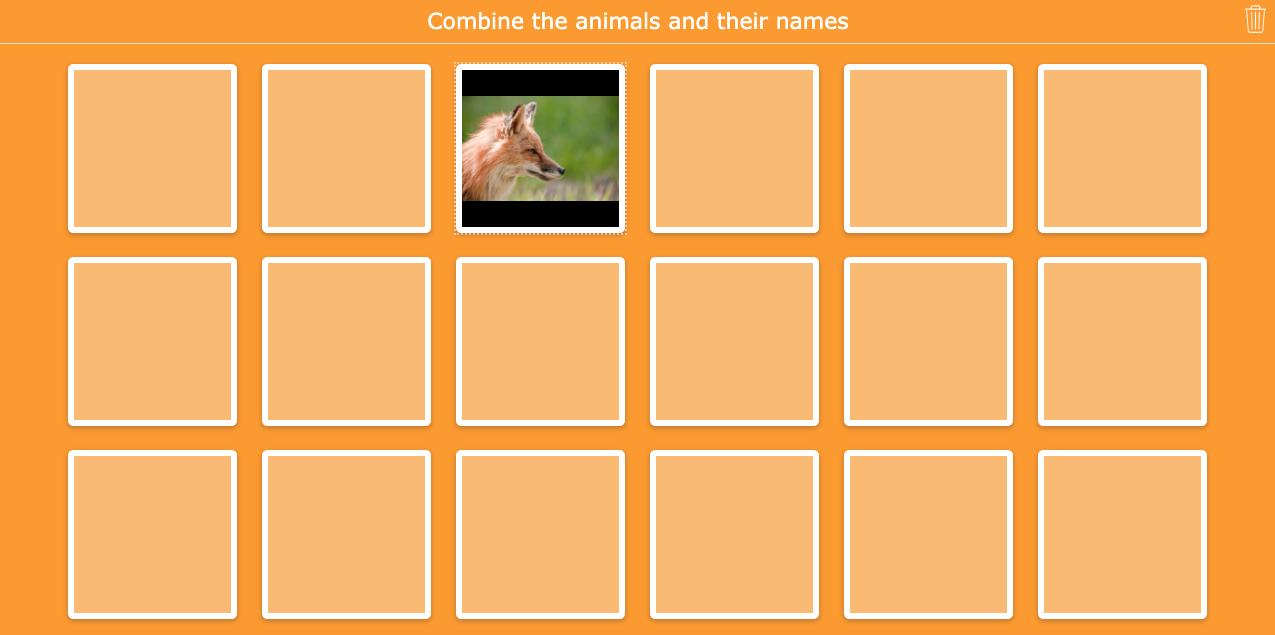 Animals memory for primary school