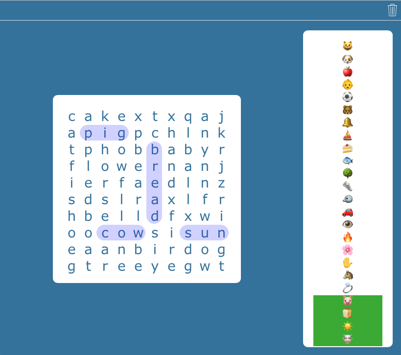 Emoji Sight Word Search