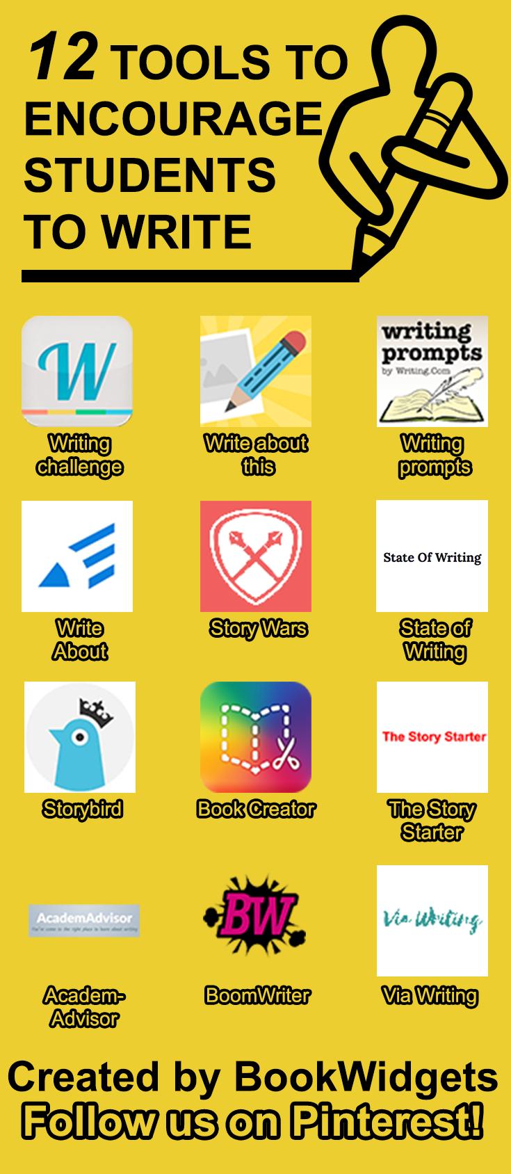 12 tools to encourage students to write