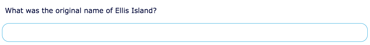 Single line text question