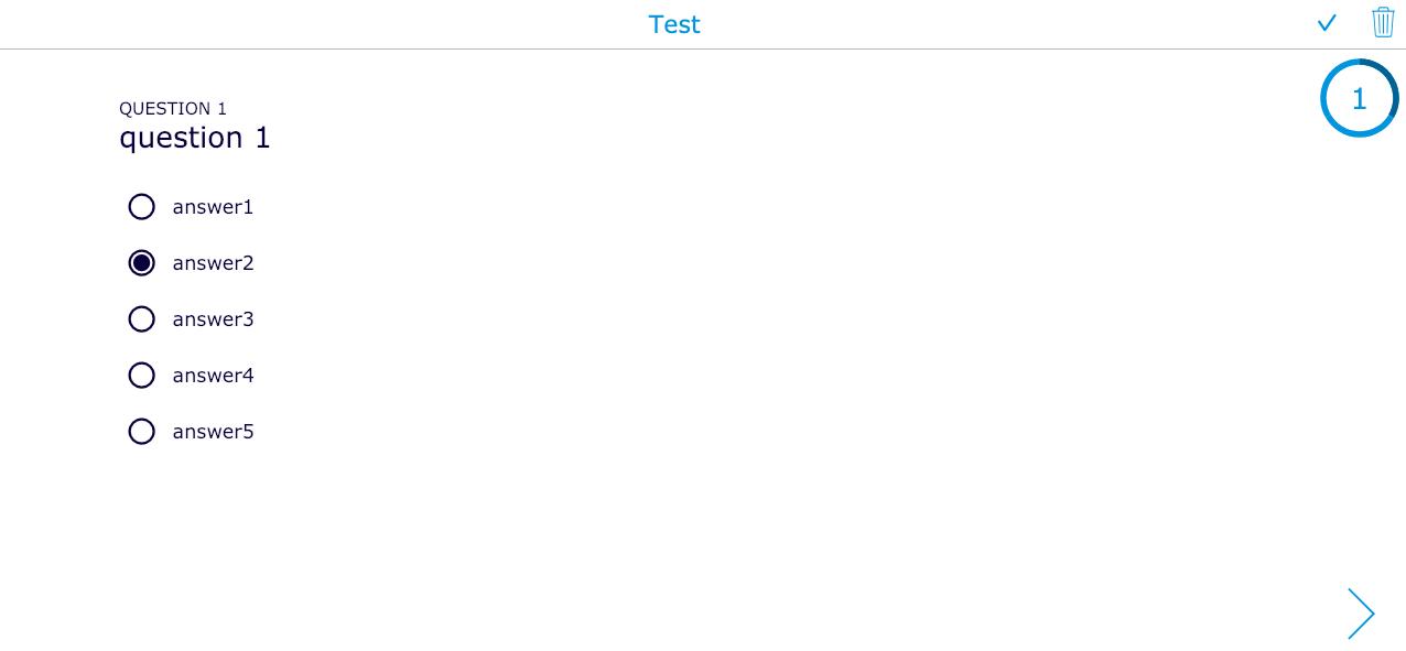 Multiple choice quiz example