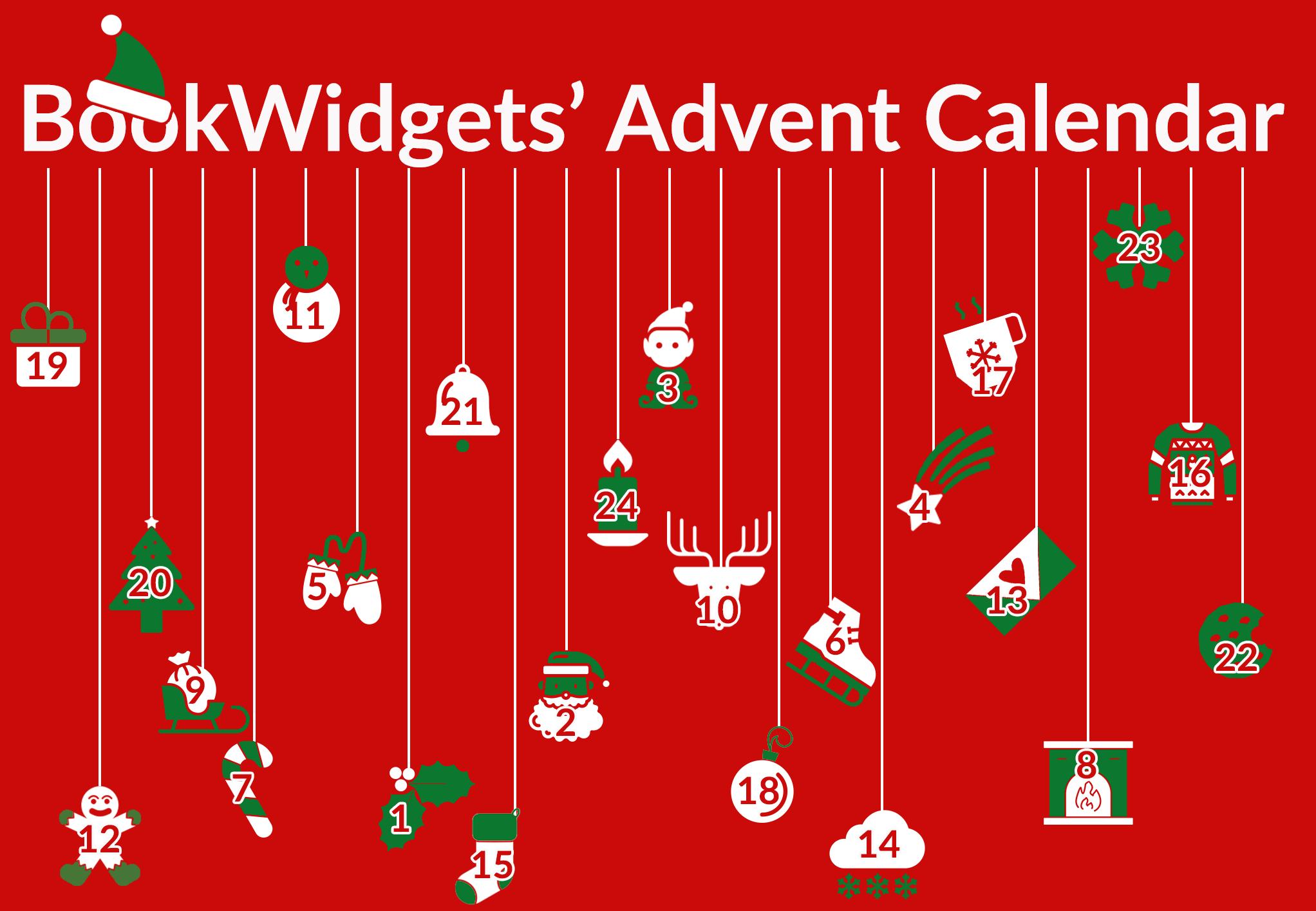 BookWidgets' Classroom Advent calendar