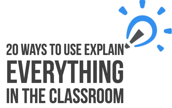 20 fun lesson ideas with Explain everything for in the