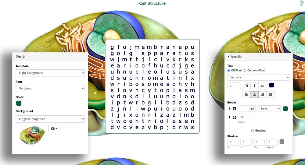 digital biology word search