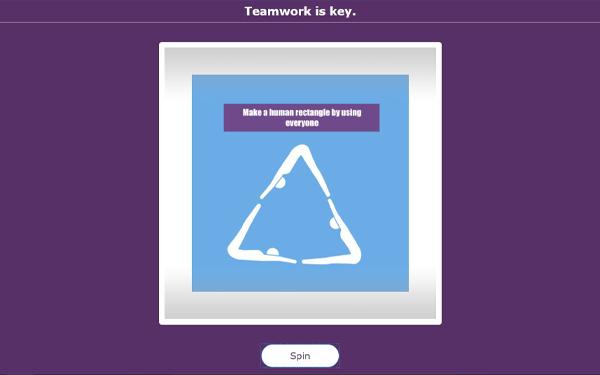 Teamwork PE lesson idea