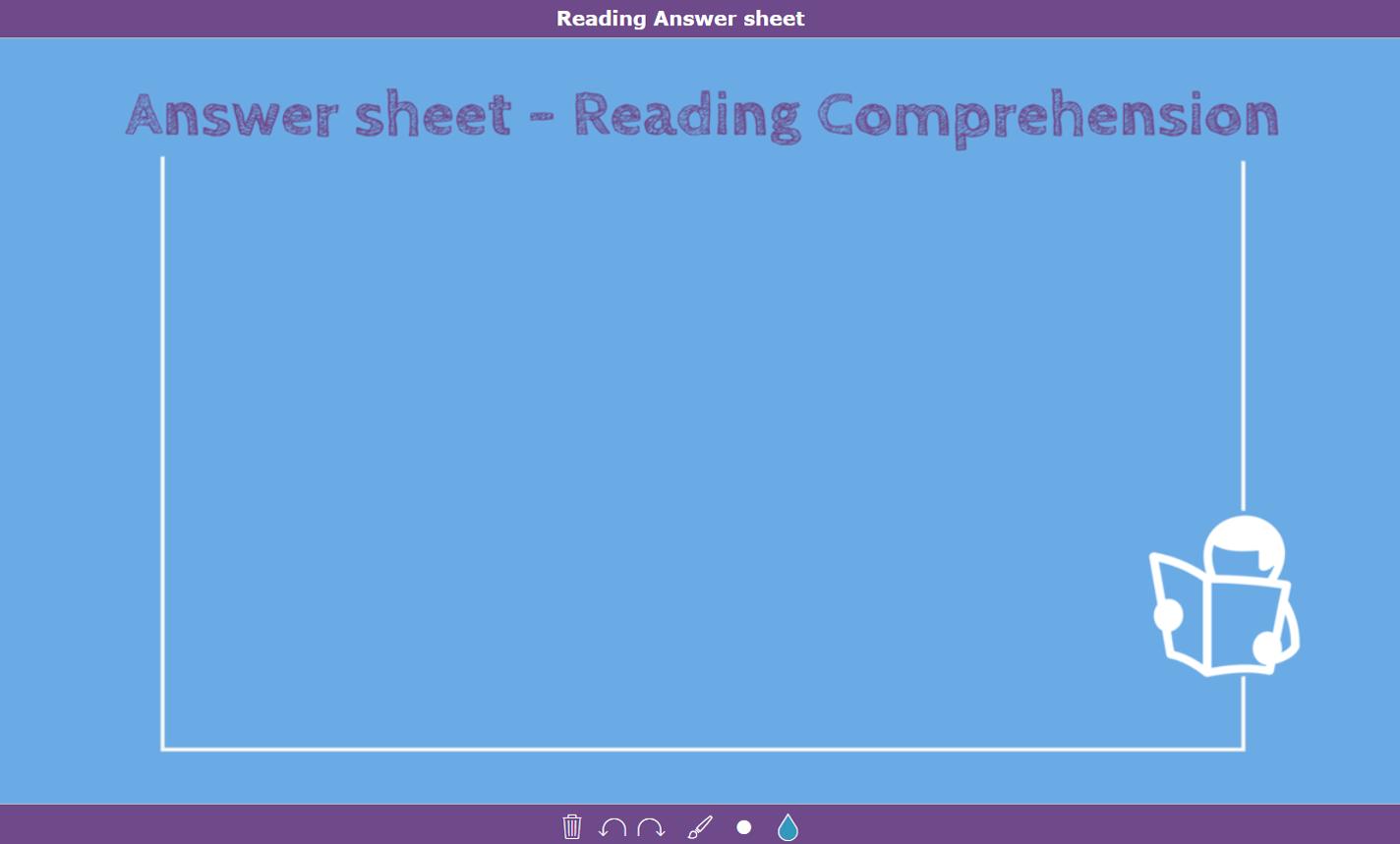 digital exit ticket - Reading comprehension