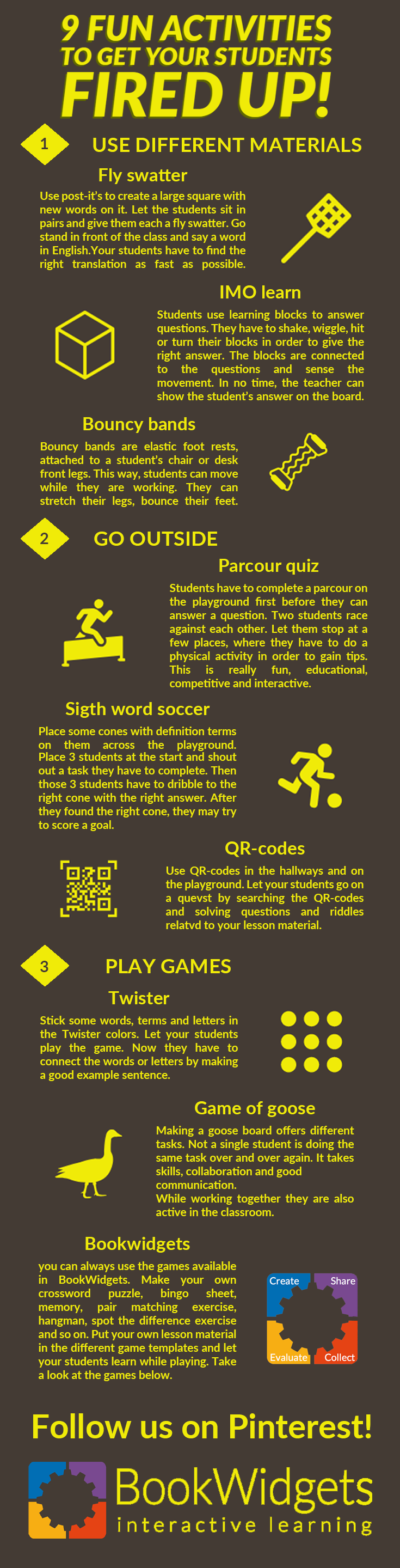Activities to get your students moving