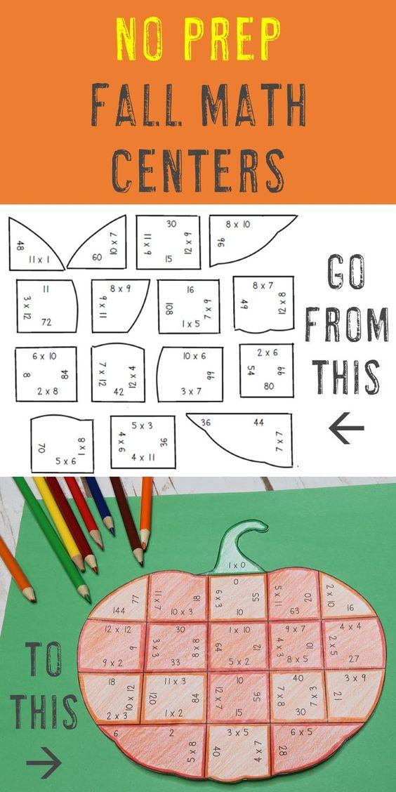 Halloween math ideas