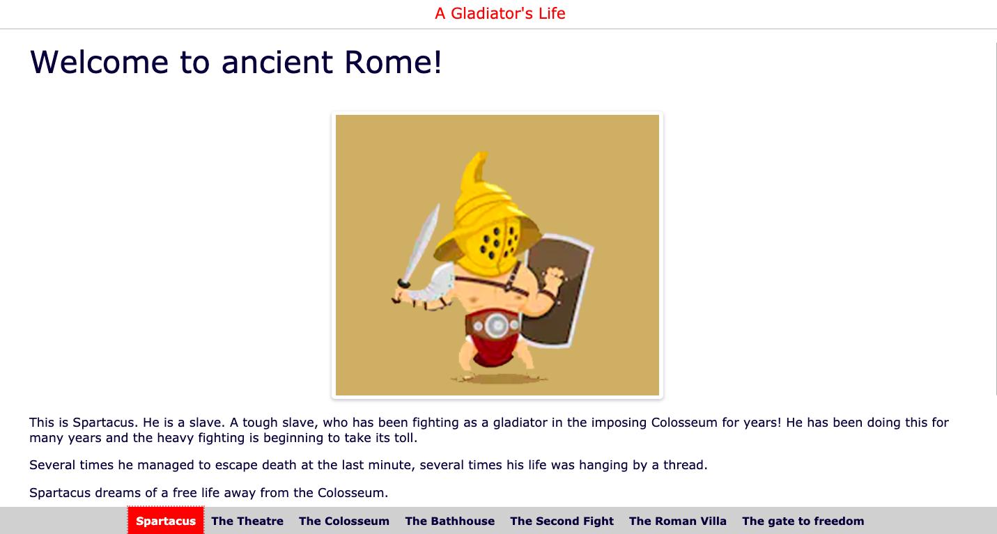 Webquest about gladiators