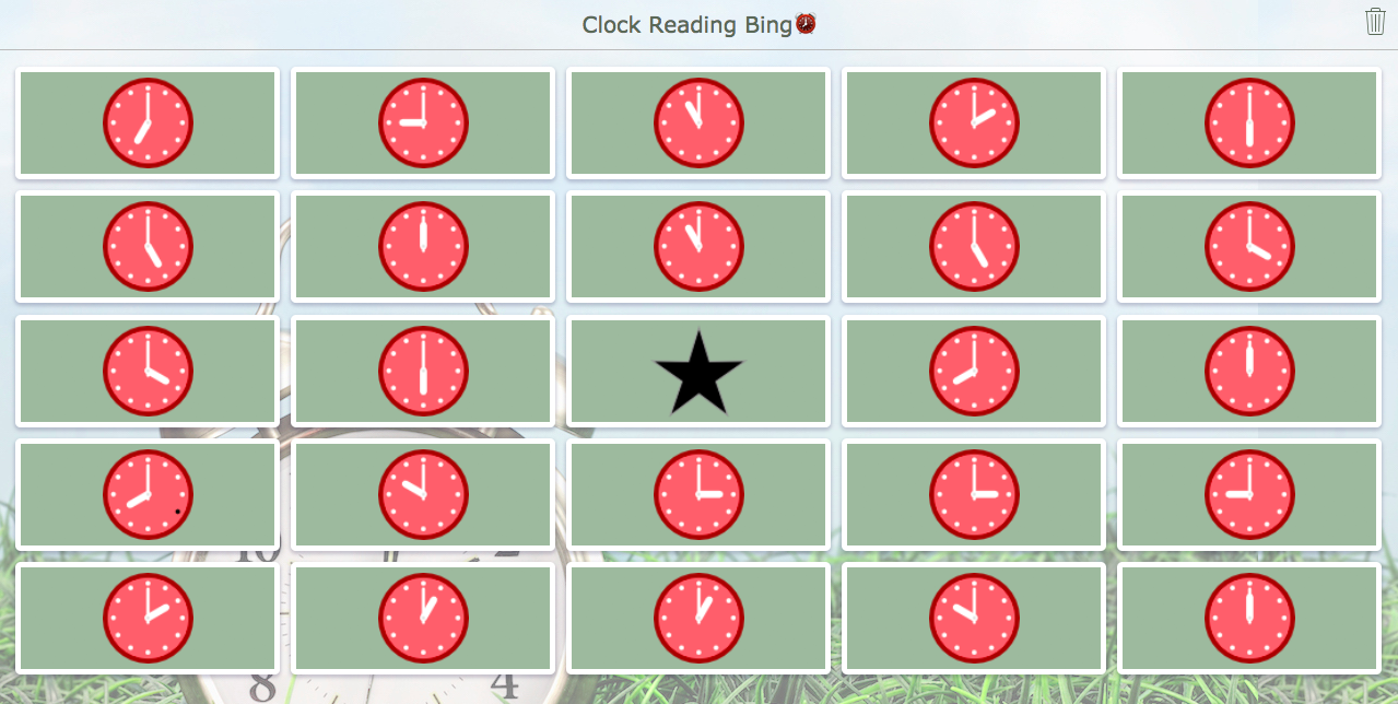 Bingo widget