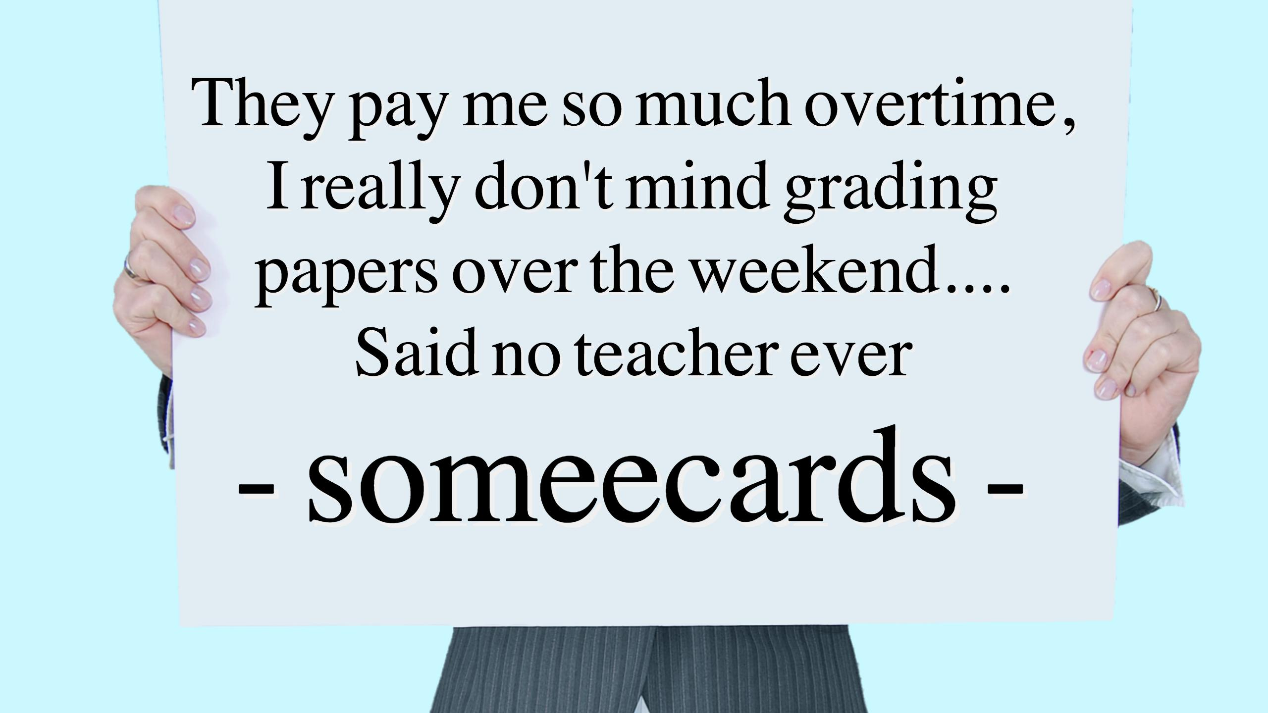 Quote about grading