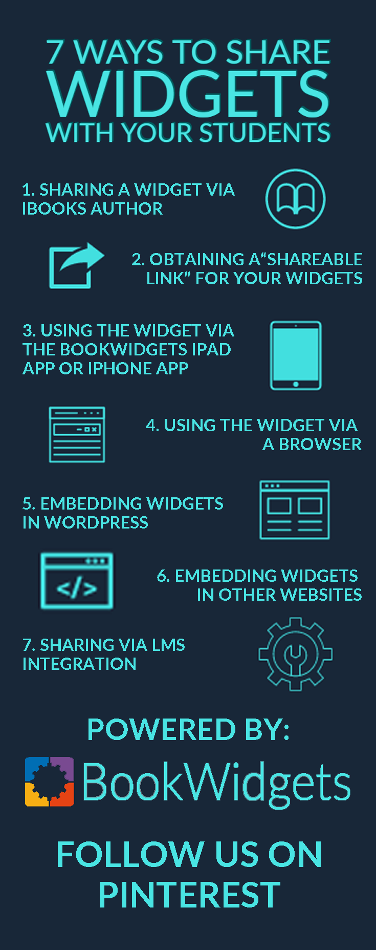 Ways to share widgets with students