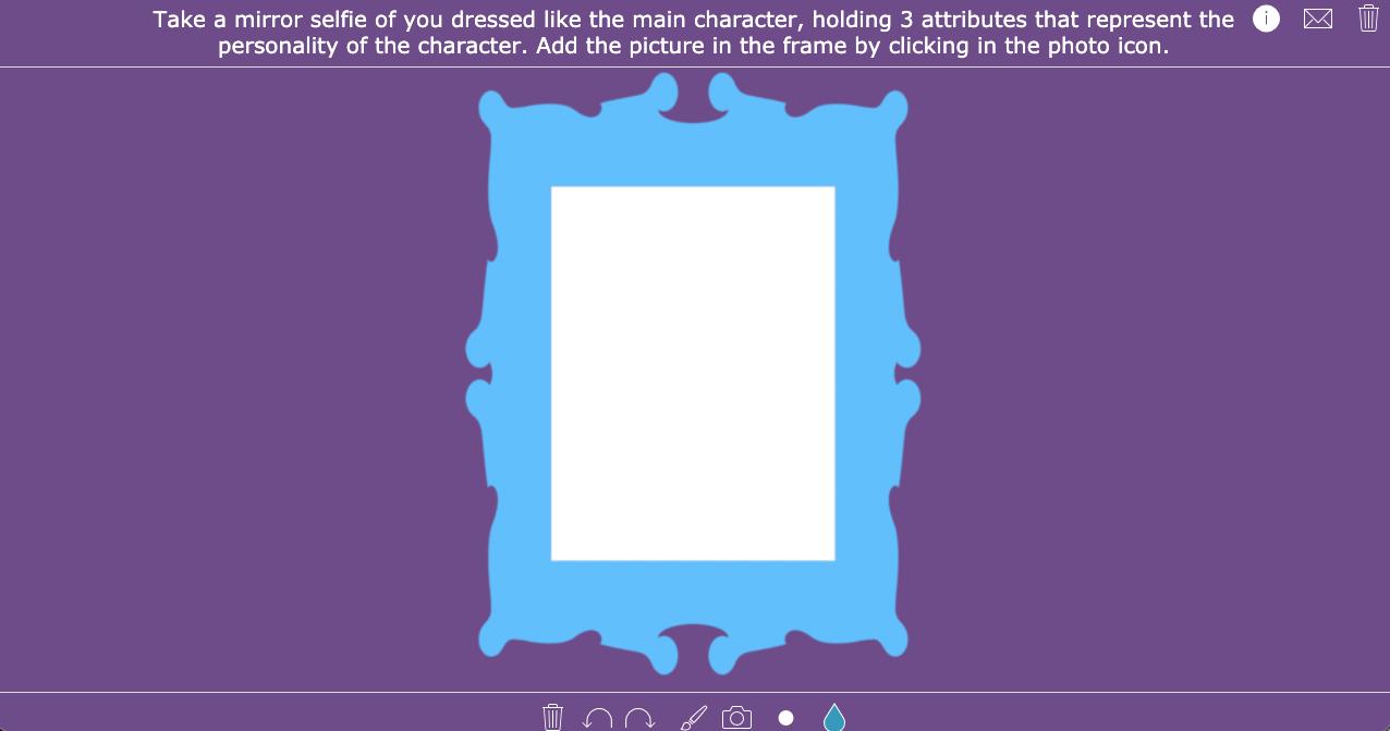 Creative book report - Mirror selfie