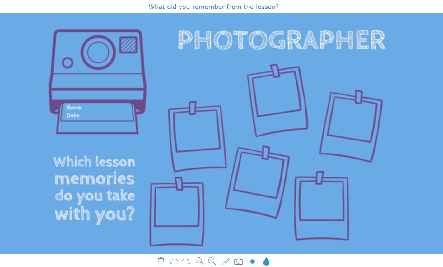 digital exit ticket - Polaroid photograph