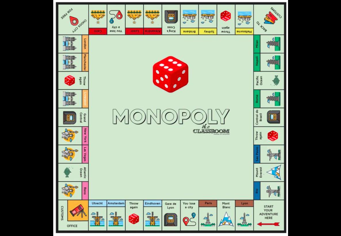 Digital monopoly board game