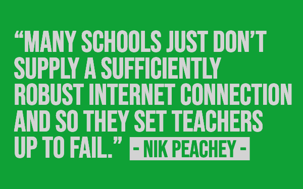 Quote about education - Nik Peachey interview