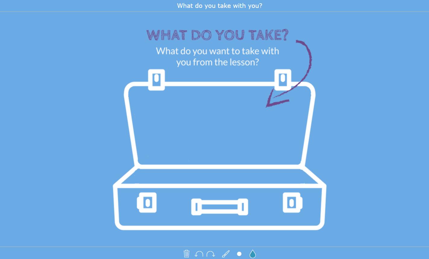 digital exit ticket - Suitcase