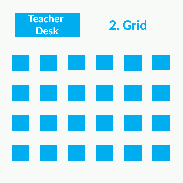 Classroom seating arrangements - rows