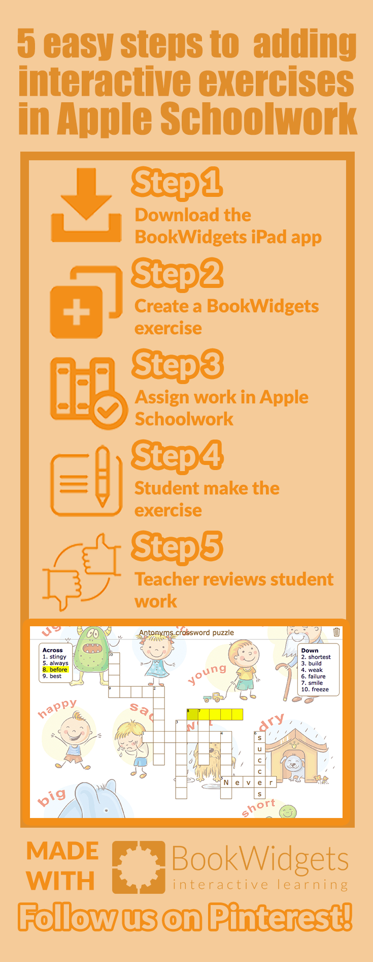 5 easy steps to adding interactive exercises in Apple Schoolwork