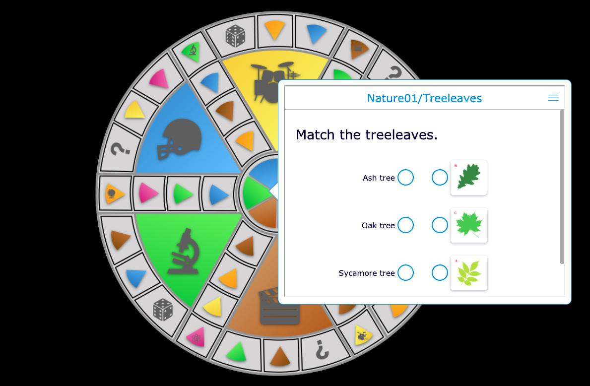 Digital trivial persuit game