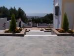 terraced area