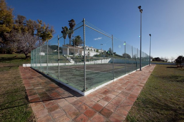 Tennis court detail Mansion Close to the sea Finca Style with exstensive grounds and stables Costa del Sol