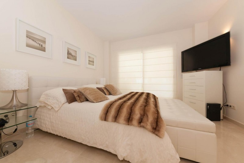 Master bedroom La quinta well Priced apartment in Los Altos in elevated positioned with distance sea views